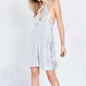 Shiny halter dress